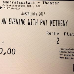 Pat Metheny at Admiralspalast